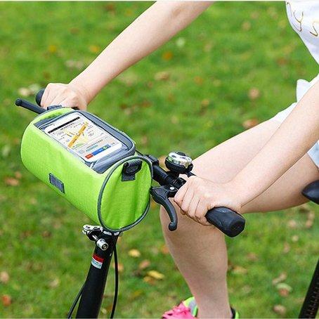 XY&GKFahrrad Mountainbike Sattel Tasche Top Tube Front Beam Reiten Ausrüstung Fahrrad Zubehör Tasche Handy Tasche, machen Ihre Reise angenehmer Navy Blue