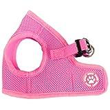 SODIAL (R) Einstellbare Welpen Haustier Hund Stoff gepolstert Harness Soft Mesh Lead Weste Kragen Clip Farbe: Pink Groesse: XL
