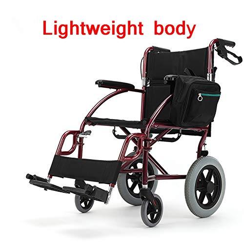 Transportrollstühle leichte aluminiumlegierung Faltbarer Abnehmbarer fußschalter Faltbare rückenlehne behinderte ältere Menschen