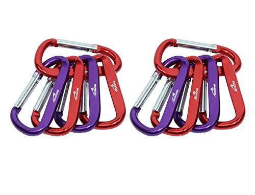 Oxking Porte clés D Ring Mousqueton 3 Pouces 8 cm Agrafe Crochet