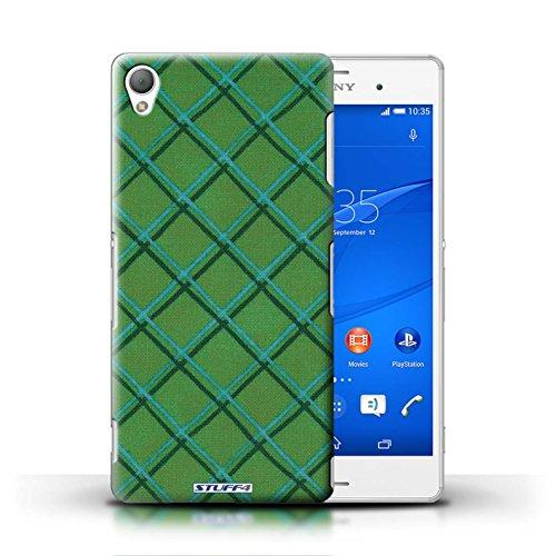 Kobalt® Imprimé Etui / Coque pour Sony Xperia Z3 / Orange conception / Série Motif Entrecroisé Vert
