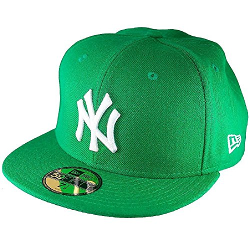 New Era Mlb Basic Ny Yankees 59Fifty Fitted Black/White - Casquette de Baseball - Homme 91194 kelly/white