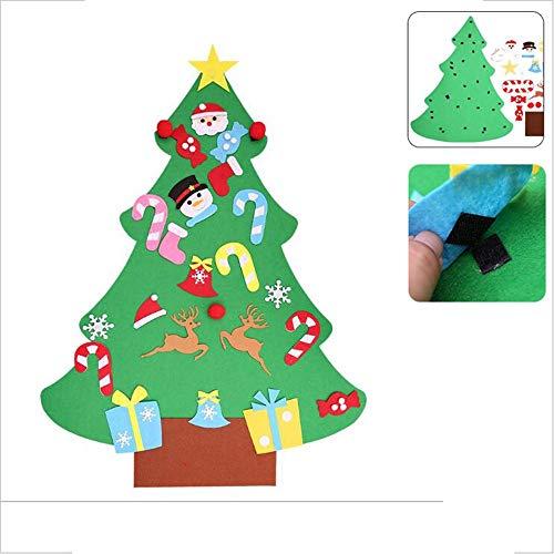YCRD DIY Weihnachtsbaum, Handgefertigte Puzzle Geschenk Für Kinder, Filz Tuch Dreidimensionale Wandbehang Dekoration, Klett,A