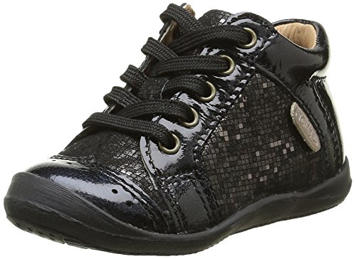 Noël Mini Bab, Chaussures Premiers Pas Bébé Fille, Noir (100 Noir), 21 EU