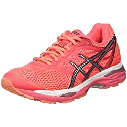 ASICS Gel-Cumulus 18, Chaussures de Running Femme, Rose (Diva Silver/Coral Pink), 37 EU