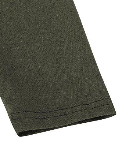 Styledome Femme Gilet Manches Longue Tops Irrégulier Ourlet Vest Manteau Cardigan Shirt Casual Longue Vert