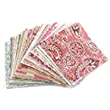 #8: SODIAL(R) Cotton Square Floral Fabric Patchwork Cloth for DIY Craft Sewing, 10x10cm (TRTAV11A) - 100 Pcs