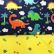 Fuya 160 cm * 100 cm * 2pieces dinosaurios hojas algodón tela PATCHWORK gamuza de tejido
