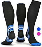 Graduated Compression Socks for Men Women - Best Travel Flight Socks - Running