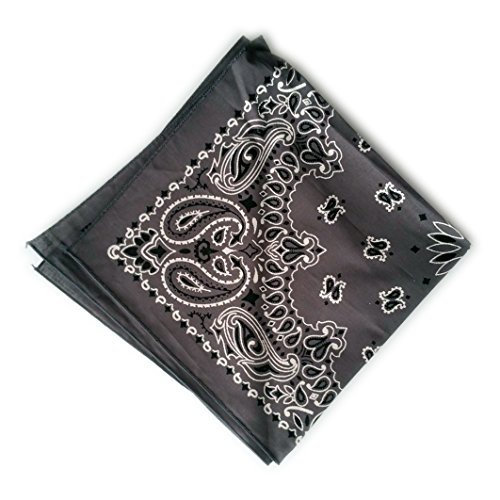 Bandana Hav-A-Hank - Motif Paisley - 100% coton - 26 coloris - Made in USA Marron