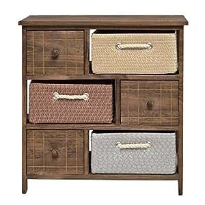 Mobiletto in stile rustico con cassettiere e cestini per il bagno cucina corridoio e camera da - Cassettiere per bagno ...