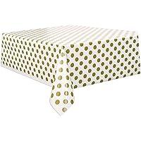 Unique 2.7m Polka Dot Plastic Tablecover–1.4m