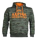 ALPHA INDUSTRIES Sweatshirt FOAM PRINT HOODY woodland camo