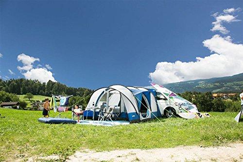 EXPLORER Zelt Albatros Buszelt freistehend abnehmbare Vorderwand 240/340x340x210cm (8m²) 4 Personen 3000mm Wassersäule Anschlusshöhe ca. 180-220cm wettergeschützter Eingang Camping Outdoor Wandern Familie