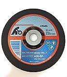 [1 Stuck] Stahl gekröpft Metall Schleifscheiben Siliciumcarbid Haken und Schlaufe disc 1 stuck