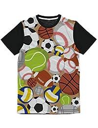 23fd820524 T-Shirt Bambino Pallone Calcio Tennis Sport da 1 a 10 Anni