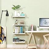 Homfa Wandregal 4er Set Wandboard Bücherregal Schweberegal Hängeregal Küchenregal Büroregal Kinderregal Holzregal Dekoregal Steckboard CD DVD Regal aus MDF weiß 25 * 25 * 3.8cm