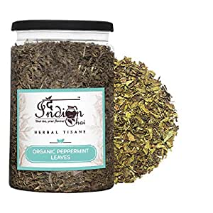 The Indian Chai - Organic Peppermint Herbal Tea Leaves 100g