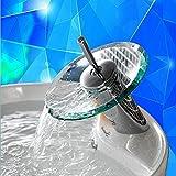 Paneltech Merry Christmas Xmas Schwarzer Freitag Glas Wasserhahn,Einhand Wasserhahn mit Wasserfall-Effekt Armatur für Badezimmer oder Küche Glas-Auslauf,Hell Grün