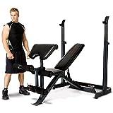 Marcy Eclipse be3000Poids Banc avec bras à squat-Curl Extension Pad et jambe | Charge 270kg