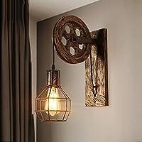 Lámpara de pared retro industrial del hierro Creatividad creativa personal Pulley Lámpara de pared Ajustable Altura