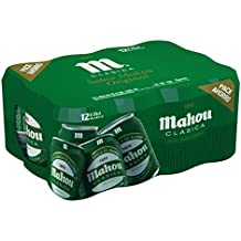Mahou Clásica - Cerveza, lata 33 cl (Pack ...