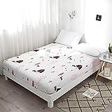 Hllhpc pour Nordic Ins Wind Sheets Beauty Bed Cover Couvre Lit Simple Pièce 2 200 *...