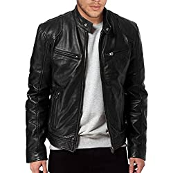 TLF The Leather Factory - Chaqueta de piel para hombre, color negro negro negro XXX-Large