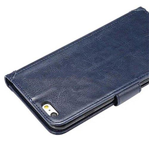 Nnopbeclik® [Coque Iphone SE antichoc / Coque Iphone 5S silicone / Coque Iphone 5 Apple] Wallet/Portefeuille en Bonne Qualité PU Cuir Housse pour Iphone 5 Coque anti choc / Iphone 5S Coque silicone /  marine