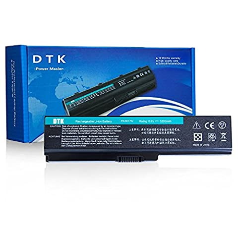 Dtk® New High Performance Laptop Battery for Toshiba Pa3817u-1brs Pa3819u-1brs Satellite C600 L640 L650 L650d L655 L700 L745 L755d M640 M645 P745 P755 P775 Series [Li-ion 6-cell 10.8V 4400mah] Notebook Battery