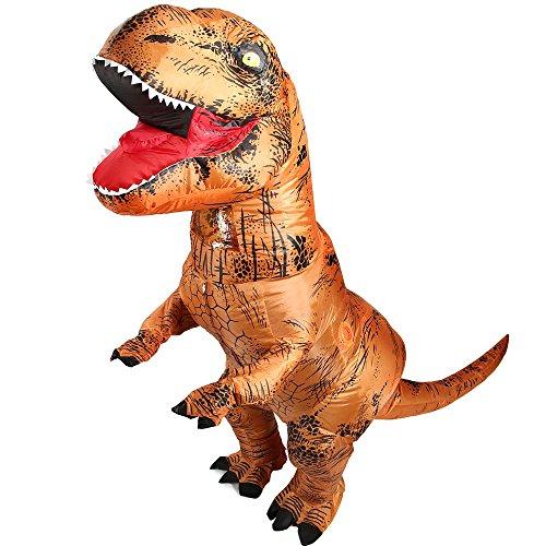 YOWESHOP - Costume Gonfiabile da Dinosauro T-Rex, per Feste di Natale, Halloween, Cosplay, per Adulti