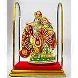 [Sponsored]ESVAR TRADING ; Radha Krishna Marble Idols | Murti For Pooja Room | Idols Home Decor Brijbhoomi Resin Radha Krishna Idol With Marble Finish Colour - Multicolour / Matchless Gifts Polyresin Radha Krishna Symbol Of Love Radha Krishna Sitting On M