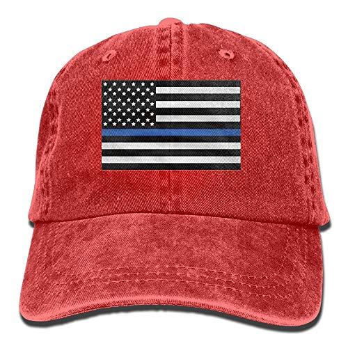 KKAIYA Infant Support The Police Thin Blue Line American Flag Cute Baby Onesie Bodysuit Snapback Cotton Cap Baseball Infant Bodysuit