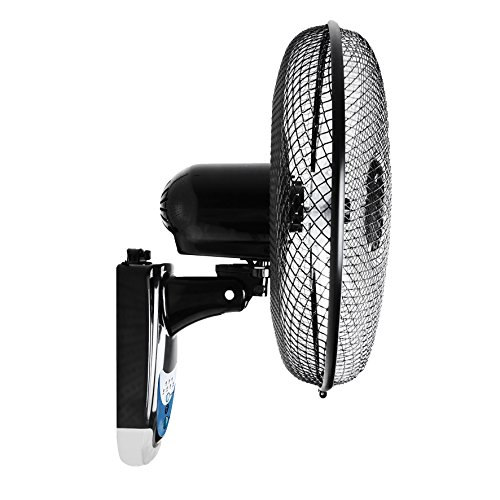 duronic fn55 ventilateur mural oscillant de 40 cm avec t l commande moteur de 60w dirtap. Black Bedroom Furniture Sets. Home Design Ideas