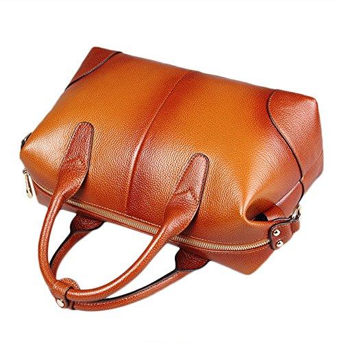 Delle donne Myleas Vintage Top spalla manico in borsa da viaggio borsa Tote Bags Marrone Encontrará Una Gran Línea Barata ArnrGU4