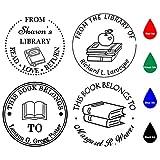 Timbro Personalizzato,Timbro Personalizzabile Tondo,Diametro 40mm,Libro/Classe/Biblioteca/Bollettino insegnante