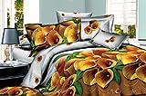 Shopcrats 3D- Floral Double Bedsheet wit...