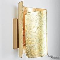Formschöne Wandleuchte In Gold Vintage Stil E27 Bis 60 Watt 230V Wandlampe  Aus Glas Für Wohnzimmer