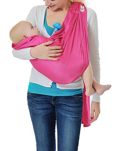 Zicac Portabebés Honda Ajustable y Respirable del Bebé/Infantil (rosa)