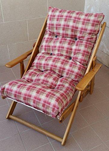Liberoshopping Coussin rembourré de rechange pour chaise longue, en coton