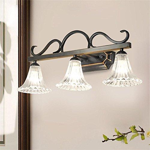 Carolina Trade- American Country minimalista specchio del bagno luce del bagno specchio mobile vanity lampada europea Specchio Retro ( colore : 3 Light