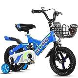 YUMEIGE Bici per Bambini Bicicletta per Bambino 12 14 16 18 Pollici, Ragazzi Ragazze Bicicletta in Lega di magnesio a Una Ruota, Bicicletta Bambini con Ruote da Allenamento 2-9 Anni Disponibile