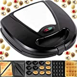 Syntrox Germany 3 in 1 Edelstahl Magic Maker Nussbäcker Sandwichmaker Waffeleisen