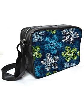 Snoogg Multicolor Blumen Leder Unisex Messenger Bag für College Schule täglichen Gebrauch Tasche Material PU