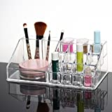Okayji Acrylic Cosmetic Display Organizer, Transparent