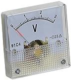 Viereckig klar DC 0-3V Voltmeter Analog Spannungs Messgerät Strommesser 91C4 de