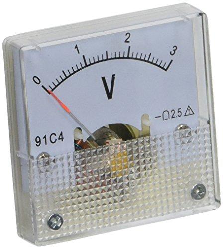 Dc Analog-voltmeter (Viereckig klar DC 0-3V Voltmeter Analog Spannungs Messgerät Strommesser 91C4 de)