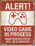 Video Games Best Deals - Video Game in Progress Plaque métal plat Nouveau 31x40cm VS4522-1