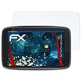 atFoliX Panzerfolie für Tomtom GO Camper Folie - 3 x FX-Shock-Clear stoßabsorbierende ultraklare Displayschutzfolie