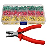 MASUNN Crimpwerkzeug Crimperzange Mit 990Pc Tube End Ferrule Terminals Sortiment Kit